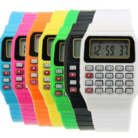 Wholesale Electronic Children Silicone Watch - Children Silicone Date Electronic Multi-Purpose Keypad Wrist Calculator Watch