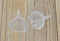 entonnoir de laboratoire achat en gros de-Vente en gros - livraison gratuite 10pcs petit plastique pour bouteille de diffuseur de parfum mini huile liquide entonnoirs de laboratoire