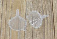 mini-kunststoff-öl-trichter großhandel-Wholesale- Freies Verschiffen 10pcs kleines Plastik Für Duft-Diffusor Flasche Mini Flüssiges Öl Trichter Labs
