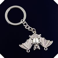 Compra Vampire Pipistrelli-nuovo-fashion-men-30mm-keychain-DIY-metallo-porta-catena-vintage-bat-vampiro-dracula-connettore-29-47mm anelli chiave