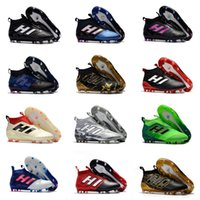 Wholesale Hard Grind - New Ace 17+ Purecontrol Champagne Outdoor Soccer Cleats Firm Ground Cleats Trainers Boost FG NSG ACE 17 Mens Football Boots Soccer Shoes