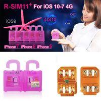 Wholesale Iphone Unlocked T Mobile - R SIM 11+ RSIM11plus rsim11+ rsim R-SIM unlock for iPhone 5 6 7 plus ios7-10.x SPRINT4G for T-mobile Sprint Fido DoCoMo not for CDMA