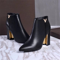 Wholesale Western Boot Chains Ladies - New 2017 Women High Heel Autumn Shoes Brand Designer Slip On Ladies Lycra Shoes Western Vintage Boots