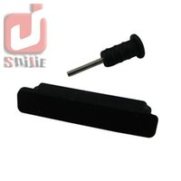 Wholesale Iphone 4s Dust Dock - Wholesale 5000sets for Iphone4 4S Silicone 30pin Dust Proof Plug Dock Cover + Earphone Jack Cap for iPhone 4 4G 4S