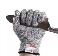 Wholesale Wholesale Gloves For Weights - Safety Gloves Kitchen Gloves with Food Grade Level 5 Hand Protection Cut Resistant Gloves Light-weight Work Gloves DHL Free Wholesale