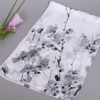 Wholesale Scarves Pastoral - Hot Sell ! 10pcs new Europe and America fashion Pastoral style Peach blossom Chiffon Scarf 160 * 50 cm 4 color