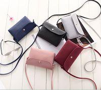 Wholesale Oblique Zipper - New full leather women Fashion small bread oblique satchel mini bag purse handbag shoulder mobile phone bag