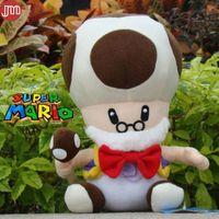 video kodları toptan satış-Yeni Süper Mario Bros Eski Kurbağa Peluş Bebek Mantar Adam Çocuk Oyuncakları Noel Hediyesi Yaklaşık 10