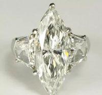 Wholesale American Giant - Giant 8 Carats Marquise Cut Diamond + 2.50 Carats Trapezoid Diamond Ring Plat
