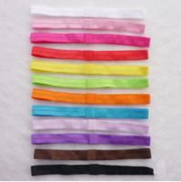 bebek yumuşak baş bantları toptan satış-22 Renkler Bebek Elastik Bantlar Saçbağı Ribbon yumuşak streç saç bandı için Parlak Sıkı bebek Saç Headbands Sticks