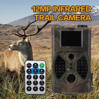 12mp scouting camera venda por atacado-Atacado-Hot 12MP Câmeras de Caça Scouting Câmera Digital Wildlife Trilha Infravermelho HC - 300A Trap Game Câmeras NO Brilho Night Vision
