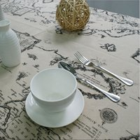 Wholesale World Map High Quality - High Quality Lace Tablecloth Elegant Decorative Tablecloth World Map Cloth Table Linen Cover For Living Room