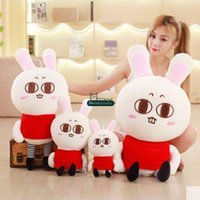 Dorimytrader mignon pop cartoon bunny oreiller poupée en peluche big stuffed anime rabbit toy kid cadeau 35inch 90cm DY61765