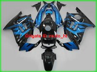 Wholesale High quality ABS plastic fairings for honda cbr600F3 blue black motorcycle fairng kit cbr600f3 AD04