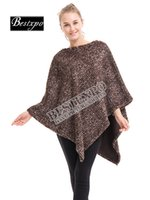 Winter Poncho Crochet Woman Sweater Batwing Shawl Striped Polyester Tassel Cardigans Crew V-Neck Pullover Warm Free Shipping