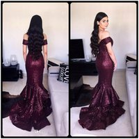 Wholesale Sparkle Sleeve Short Prom Dress - Formal 2018 Sparkle Off Shoulder Prom Dresses Sequind Tiered Mermaid Long Party Dress Charming Evening Gowns