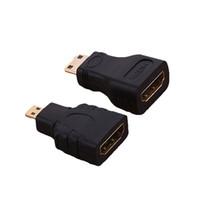 xbox hd mini großhandel-Hot HDMI zu Micro HDMI und HDMI zu Mini Converter Vergoldeter HD Extension Adapter Anschluss für Video TV für Xbox 360 HDTV 1080P
