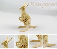 Jc913 DIY Kid 3D animale Wood Puzzle Octopus Kangaroo Fenicotteri Butterfly Squirrels Cigni Bee Spider
