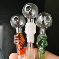 Wholesale Unique Scrubs - Colorful bones scrub straight mouth pot  , New Unique Glass Bongs Glass Pipes Water Pipes Hookah Oil Rigs Smoking with Droppe