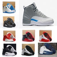 Wholesale Gym Rubber Bands - 2016 high quality air retro 12 XII men basketball Shoes gym Red Flu Game ovo white taxi playoffs Sports Shoes sneakers Athletics boots