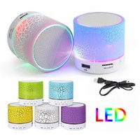 Wholesale usb bluetooth free pc resale online - Bluetooth Speakers LED A9 S10 Wireless Speaker Hands Portable Mini Loudspeaker Free TF USB FM Support SD Card PC With Mic
