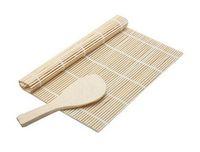 bambuskoch großhandel-Küchenzubehör Sushi-Werkzeuge Rolling Roller Bamboo Material Mat Maker DIY und A Rice Paddle Cooking Tools