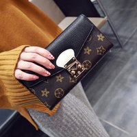 Wholesale Purses Discount - 2017 hot sale Women's Fashion Card Holders Leather Flap long Wallets Female Purses Card Holder Coin Pouch discount free shipping