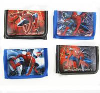 Wholesale Kids Spider Man Gift Bag - Wholesale- CM459 best boy's birthday gifts cartoon spider man purse children kids cards bag key bag fashion coins bag Wallet Coin Purse