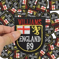 Wholesale Iron Patches Badge Flag - England Badges flags patches for clothing iron embroidered Diy patch applique iron on patches sewing accessories for clothes bag