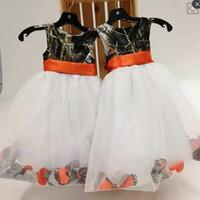 Wholesale kind girls - Camo Flower Girls Dresses Jewel A Line Organza Back Zipper First Communion Dress Handmade Girls Pageant Dress Kinds Formal Wear