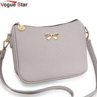 Wholesale Vogue Clutch Wholesale - Wholesale-Vogue Star Vintage cute bow small handbag women clutch ladies mobile purse famous brand shoulder messenger crossbody bags LS463