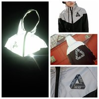 Wholesale Slim Male Clothes - Wholesale-Palace Skateboard 3M Reflective Mens Palace Jacket Street Male Reflective Windbreaker Trend Brand Clothing 715