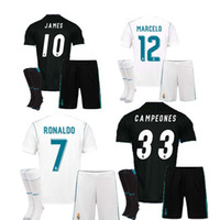 Wholesale Black Gold Fans - The 2018 fan edition away jersey, the real Madrid football jersey 17 18 CR7 football jersey, the ronaldo bell football shirt Asensio sergio
