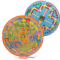 Wholesale Chinese Flying Toys - Maze and Flying Chess 2 in 1 With Wooden Chinese Checkers Game Kids Educational Toy Set 2107360