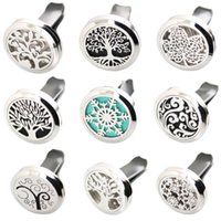 Wholesale lockets for sale - More Than styles mm Diffuser Stainless Steel Pendant Car Aroma Locket Essential Car Diffuser Oil Lockets Free Pads
