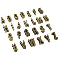 charmes alphabet h achat en gros de-78pcs-Antique Bronze Alphabet 26 lettres breloques,