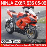 Wholesale kawasaki ninja for sale - 8Gifts Colors kit For KAWASAKI NINJA ZX636 ZX6R CC NO72 Gloss orange ZX ZX R ZX ZX R Fairing Bodywork