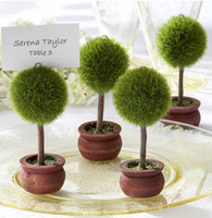 Wholesale Wedding Table Tree Holders - Wedding Favor Topiary Tree Photo and Place Card Holder Wedding Table Decoration