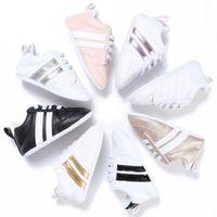 ingrosso scarpe da sole morbide per i bambini-New Fashion Sneakers Newborn Baby Crib Shoes Ragazzi Ragazze Infant Toddler Soft Sole primi camminatori Baby Shoes