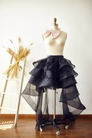 Wholesale Homcoming Dresses - Black Summer Hoilday Short Dress Casual Hi Lo Cocktail Skirts Sexy Plus Size Tulle Homcoming Dresses