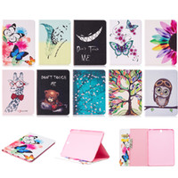 Wholesale S3 Case Bird - Tablet Case For Samsung Galaxy Tab S3(T820) with Card Pockets Tree Evil Laugh Bear Giraffe Flower Butterfly Olw Flos Mume Feather Birds