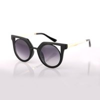 Wholesale Glass Uv Resin - AOOKO brand sunglasses 78114 alloy frame uv protection lens women fashion cats sun glasses 6 colors famous all over the world sunglasses
