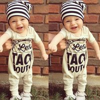Wholesale Cute Outfits For Boys - Newborn Rompers Onesies Cotton Letter Printed Jumpsuit Clothes For Boys Cute Toddler Gray Casual Summer Outfits New Arrival