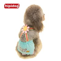 Wholesale Pet Sanitary Pants - Hipidog Female Dog Shorts Panties Pet Large Dog Diaper Sanitary Physiological Pants Washable Menstruation Underwear Briefs