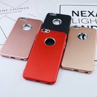 Wholesale Wholesale Plastic Cake Plates - Hybrid Case For Iphone 7 Plus 6 6S Galaxy S8 Plus Luxury Metallic Hard Plastic+TPU With Ring Cover Cake Pattern Hole Chromed Plating Cover