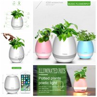 Wholesale China Plant Pots - TOKQI Wireless Bluetooth Touch Flowerpot Mini Subwoofer Speaker Smart Plant Office Mp3 Music Player Pot with LED Multiple Colors