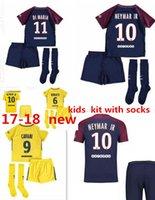 Wholesale G P S - Best Quality P S G third kids kit Maillot de football Saint Di Maria neymar jr Matuidi Silva MBAPPE WIJNALDUM FIRMINO Cavani Football kids