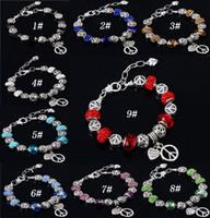 bracelet shamballa love achat en gros de-Charme européen Perles De Verre De Murano Bracelet Bijoux Shamballa Cristal Charms Perles Bracelets Amour Bracelets pour Bijoux Femmes