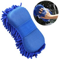 Wholesale Wholesale Car Wash Supplies - Hot Car wash gloves car cleaning sponge Car Window Cleaning Ultrafine Fiber Chenille Anthozoan Washer Sponge Brush Supplies S201782