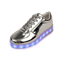 Wholesale Neon Fur - Hot Usb Colorful glowing led shoes femme with lights up luminous casual male shoes simulation Men shoes for adults neon basket X0